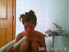 Bathroom Hidden Cam First Time