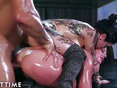 ADULT TIME Angela White & Joanna Angel ANAL Oil Squirt 3some