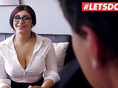 LETSDOEIT Big Tits Teen July Johnson Bangs The Boss At Work