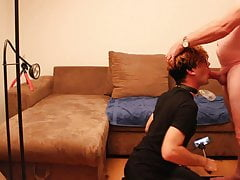 Androgynous sissy boy teen twink pleasuring daddys cock No 2