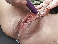 Slutty Step Sister Cumming from Sex Toy