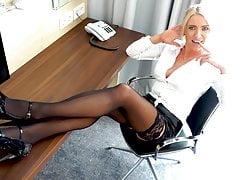 The office whore !Trainee (19) fucks all holes! XXL FACIAL