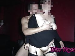 Wife fucks stranger at the porn movies in front of her husband