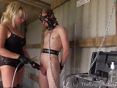 Mistress Zena and two slaves in the milking shed